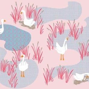geese scene_petal pink
