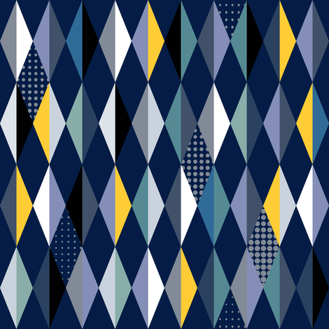 winter mountain diamonds fabric by vo_aka_virginiao on Spoonflower - custom fabric