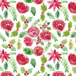 Christmas Watercolor Floral