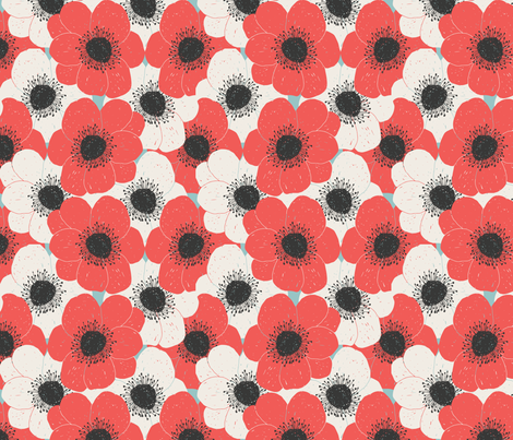 Poppy stack fabric by littlefoxhill on Spoonflower - custom fabric