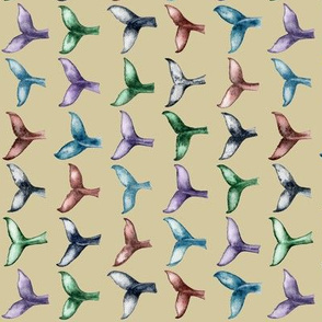 whale tails (lt gold) - horizontal / small