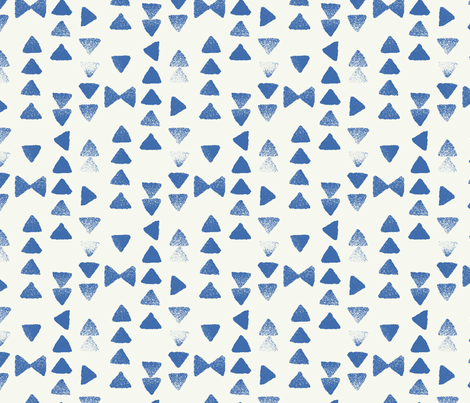 triangle fall in blue fabric by littlefoxhill on Spoonflower - custom fabric