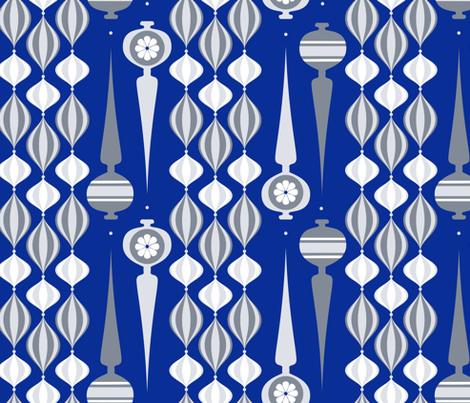 silver mod ornaments fabric by ghouk on Spoonflower - custom fabric