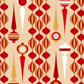 gold and red mod ornaments