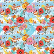 Winter Flurry - Abstract Floral