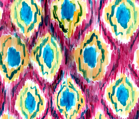 ikat_1_pattern fabric by lusykoror on Spoonflower - custom fabric