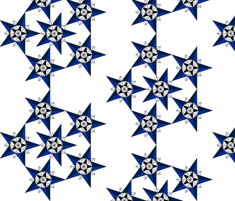 Winter star fabric by simply_life on Spoonflower - custom fabric