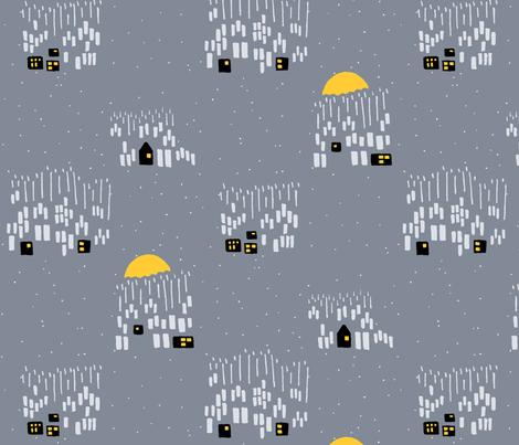 Winter grey fabric by alexandraboman on Spoonflower - custom fabric