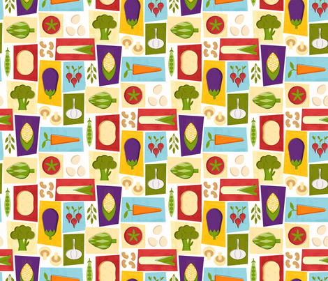 Farm to Table_Pattern fabric by mia_valdez on Spoonflower - custom fabric