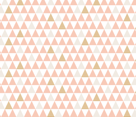 Striped Triangles Blush White fabric by kimsa on Spoonflower - custom fabric