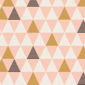 Striped Triangles Blush