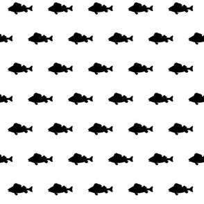 Fish run - black on white