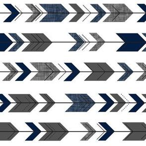 fletching arrow - happy camper - navy and grey coordinate (90)