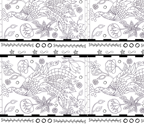 Color me Peacock fabric by floramoon_designs on Spoonflower - custom fabric
