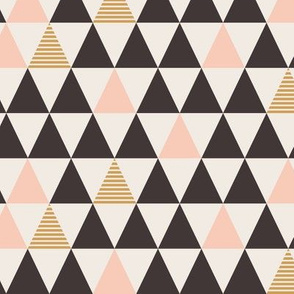 Striped Triangles Gold Blush