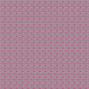 (micro scale)  watercolor hearts || stripes