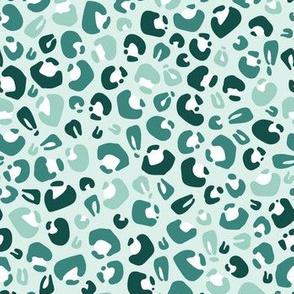 christmas cheetah in green