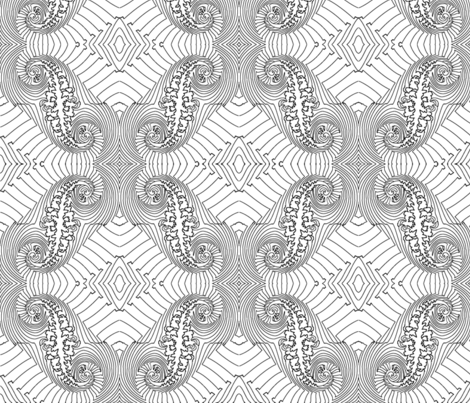 Fractal for Coloring Book fabric by anneostroff on Spoonflower - custom fabric