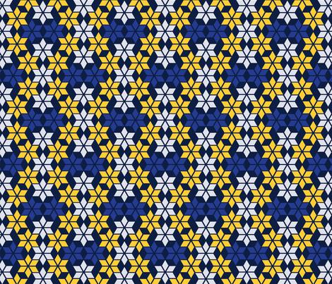 starflake fabric by peach_home on Spoonflower - custom fabric