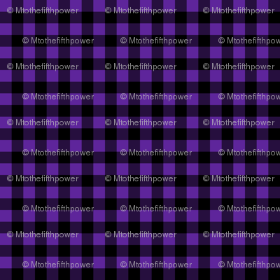 Quarter Inch Purple and Black Gingham Check