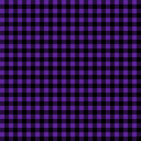 Quarter Inch Purple and Black Gingham Check fabric by mtothefifthpower on Spoonflower - custom fabric