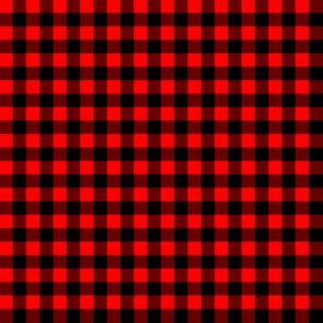Quarter Inch Red and Black Gingham Check