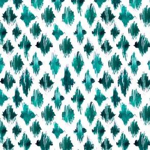 Emerald ikat watercolor pattern