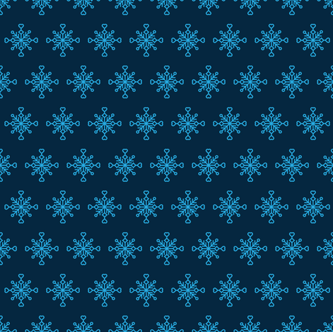 For the Love of Snow - Alt. fabric by crystal_whitlow on Spoonflower - custom fabric