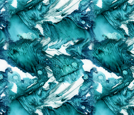 Aqua Fractals fabric by crestbirch on Spoonflower - custom fabric