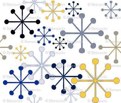 Sprinkly mod snowflakes