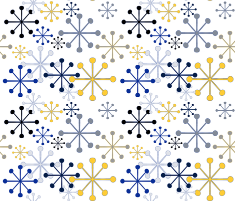 Sprinkly mod snowflakes fabric by beesocks on Spoonflower - custom fabric