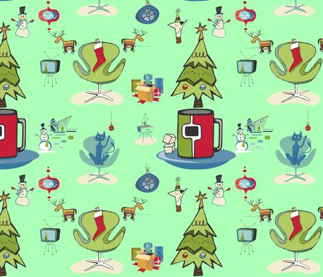 Mod Christmas fabric by floramoon on Spoonflower - custom fabric