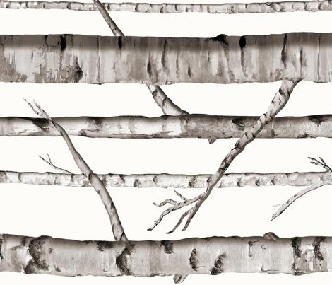 Railoraded Birch Grove fabric by willowlanetextiles on Spoonflower - custom fabric