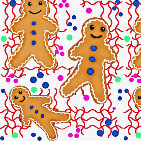 Gingerbread Disconnect fabric by franbail on Spoonflower - custom fabric