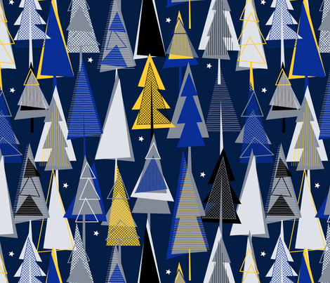 Winter_Woodland fabric by j9design on Spoonflower - custom fabric