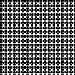 Mini Gingham Block Print in Black