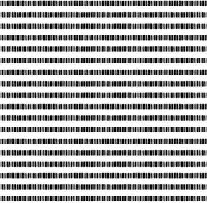 Skinny Striped Line Block Print in Black
