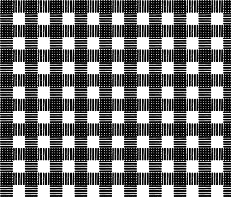 Striped Gingham Block Print in Black fabric by always_june on Spoonflower - custom fabric