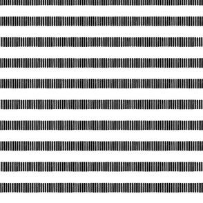 Striped Line Block Print Pattern in Black