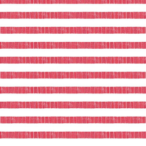 Striped Line Block Print in Red