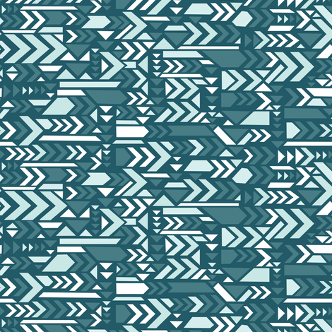 Arrows in blue fabric by lburleighdesigns on Spoonflower - custom fabric