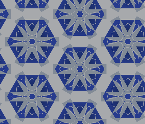 Bold_snowflake fabric by lily_studio on Spoonflower - custom fabric