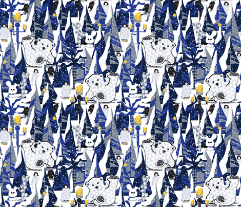 Somewhere in the snow.... fabric by everhigh on Spoonflower - custom fabric
