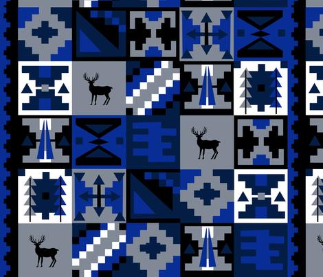 Winter Reindeer Geometric fabric by clairekalinadesigns on Spoonflower - custom fabric