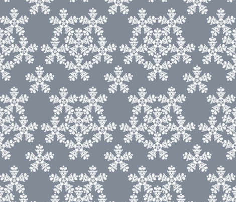 Abstractish Snowflakes fabric by fatcat_designs on Spoonflower - custom fabric