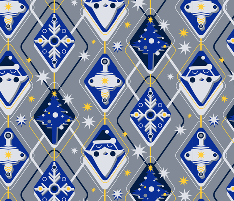 Winter Mod with Shadows fabric by roguerens on Spoonflower - custom fabric