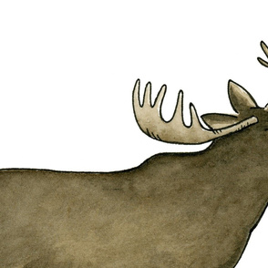 Watercolor Moose - Large
