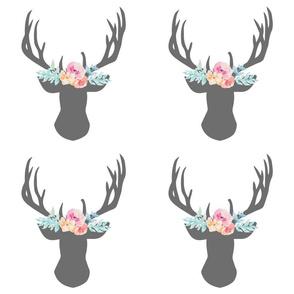 9 inch Floral Deer