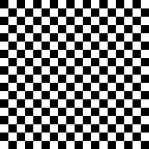 Checkered Black White Squares Racing Race