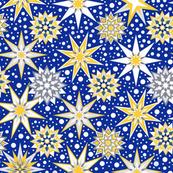 Christmas star & snow- starlight snow fall